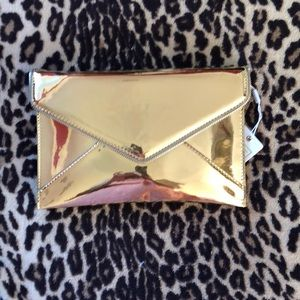 NWT Gold Clutch Purse